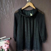 Baju Atasan Blouse Wanita Import Warna Hitam - MS8-0188