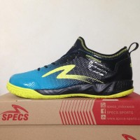 New Sepatu Futsal Specs Metasala Musketeer Black Coctail Blue 400735