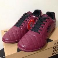 New Sepatu Futsal Kelme Power Grip Maroon Black 1102130 Original Bnib