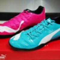 New Sepatu Futsal Puma Evopower Tricks Blue Pink Berkualitas