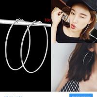 Aksesoris Anting Bulat Wanita Import Anting Ring Hoop Fashion 79
