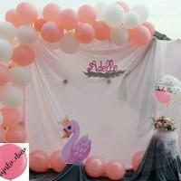 Menyewakan standing & gate balon, atas tart, pinata, nama glitter