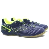 Sepatu Futsal Mizuno Monarcida Sala Pro IN - Graphite/Safety Yellow