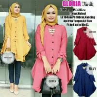 Baju Atasan Blouse Tunik Gloria Wanita Baju Muslim Blouse - Hitam