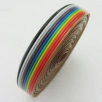 kabel pelangi rainbow cable 10p 10 pin p 10pin per meter pita