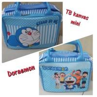 travel bag/tas travel koper kanvas kotak mini Doraemon
