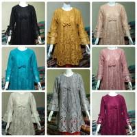 Baju Atasan Wanita Terbaru/Baju Atasan Tunik/Tunik Brukat TBL