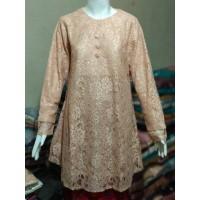 Baju Atasan Wanita Terbaru/Baju Atasan Tunik/Tunik Brukat TBK07 salem