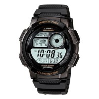 Casio Digital AE-1000W-1AVDF - Jam Tangan Pria - Hitam - Resin