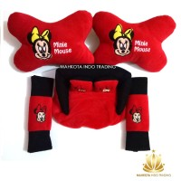 Bantal Mobil Mickey Mouse Minie Mouse 3 in 1 - Minie Mouse
