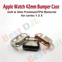 Premium Apple Watch 42mm TPU Soft Silicone Bumper Jelly Case Cover