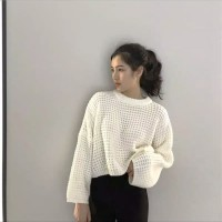JES-ST0441 outwear blouse sweater knit rajut wanita-baju musim dingin