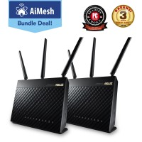 ASUS AiMesh AC1900 Dual-Band Wireless Router 2 Pack [RT-AC68U]