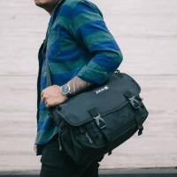 Arcio Delta Black - Tas Selempang Laptop Sekolah Kuliah Pria