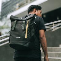 Arcio Logan Black - Tas Punggung Ransel Laptop Sekolah Kuliah Pria