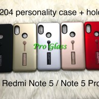 C204 Xiaomi Redmi Note 5 / Pro Personality i-ring Case + Stand Holder