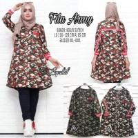 Fashion Wanita / Baju Atasan Wanita Fila Army Syabil