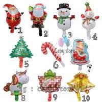 Balon Foil Merry Christmas / Balon Foil Natal Aneka Karakter Mini