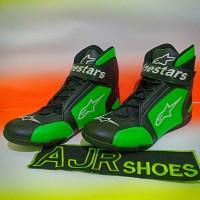 Sepatu drag alpinestar k1 hitam hijau
