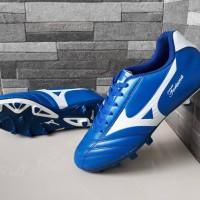 Sepatu Sepak Bola Mizuno Fortuna Import Biru List Putih Soccer