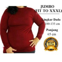 Manset Baju Kaos Dalam Wanita Jumbo XXL to XXXL
