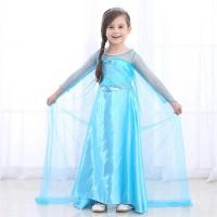 Baju Elsa Frozen Anak / Baju Elsa Frozen Biru Glamour Princess CG23