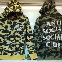 Hoodie pria/ Hoodie anti social social club/ hoodie camo bape X assc