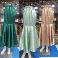 Realpict!!! Rok Duyung Polos Bhn Katun Silk All Size