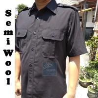Baju seragam safari Security / Satpam / Driver / Sopir Bahan Semi Wool