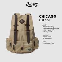 13thcase - Journey Chicago Cream Tas Ransel Laptop Kanvas Vintage Bag
