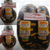 paket Ban Xmax Pirelli Diablo Rosso Scooter 120/70-15 & 150/70-14