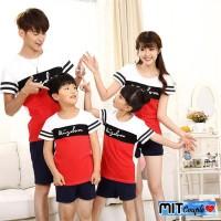 Baju kaos Couple Keluarga Family 2 Anak BlackRed