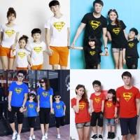 Baju Kaos couple keluarga Supermen 2 Anak/DK