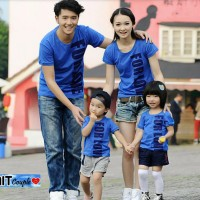 Baju Kaos Couple Keluarga For Love 2 Anak/DK