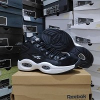 Sepatu Basket Iverson Reebok Question Black White Premium