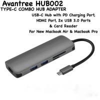 Avantree Type C Combo Hub002 Apple USB-C Digital AV Multiport Adapter