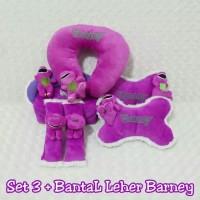 Bantal Mobil 4 in 1 BARNEY Ungu (plus Bantal Leher Barney)
