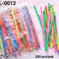 BL-0012 Balon latex lateks panjang magic sulap birthday ultah
