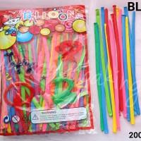 BL-0023 Balon latex lateks panjang magic sulap birthday ultah