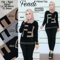 Baju Atasan Wanita Muslim Blouse Fendi Navia Top Hn2