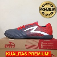 ANEKASEPATU Sepatu Futsal Specs Equinox IN Dark Granite Red 400771 Ori