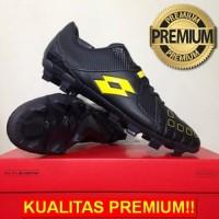 ANEKASEPATU Sepatu Bola Lotto Squadra FG Jet Black Sunshine L01010010