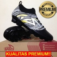 ANEKASEPATU Sepatu Bola Specs Heritage FG Black Gold White 100797 Orig