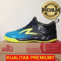 ANEKASEPATU Sepatu Futsal Specs Metasala Musketeer Black Coctail Blue