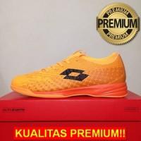 ANEKASEPATU Sepatu Futsal Lotto Spark IN Beat Orange Black L01040004 O