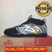 ANEKASEPATU Sepatu Futsal Specs Heritage IN Black Gold White 400750 Or