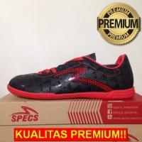 ANEKASEPATU Sepatu Futsal Specs Quark IN Black Emperor Red 400720 Orig