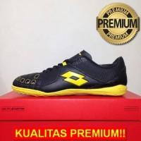 ANEKASEPATU Sepatu Futsal Lotto Squadra IN Black Sunshine L01040010 Or