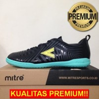 ANEKASEPATU Sepatu Futsal Mitre Optimize IN Black Yellow Lite T0104002