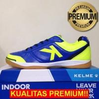 ANEKASEPATU Sepatu Futsal Kelme K-Strong Royal Blue Lime 55787 Origina